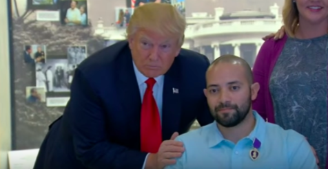Trump Awards Purple Heart To Wounded Soldier During First Visit To Walter Reed Featured