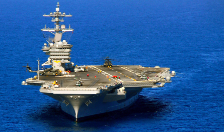 "North Korea Says It's ""Ready To Sink"" U.S. Aircraft Carrier ""With A Single Strike"" Featured"