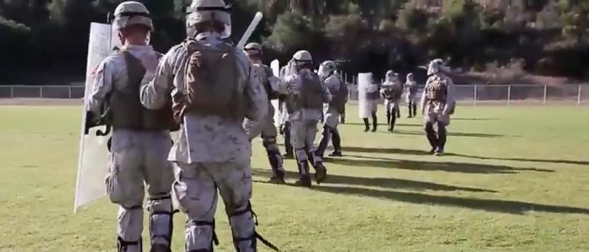 Screen Shot 2017 04 25 at 11.10.19 PM - Watch U.S. Marines Conduct Riot Control Training