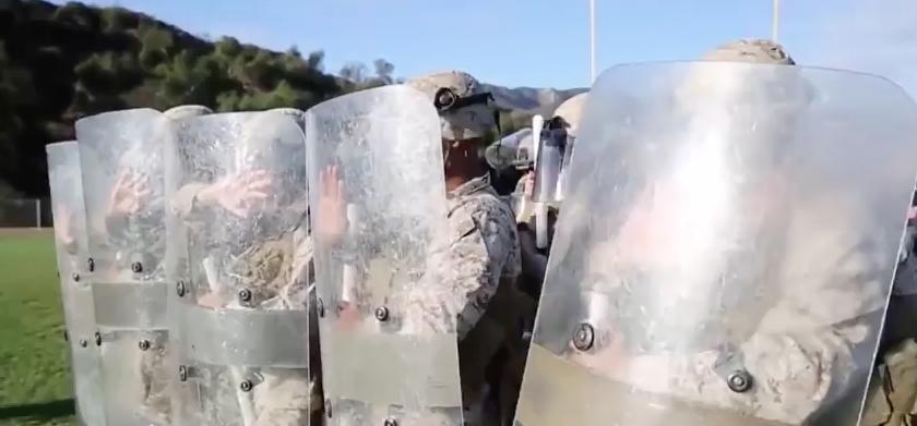Screen Shot 2017 04 25 at 11.10.26 PM - Watch U.S. Marines Conduct Riot Control Training