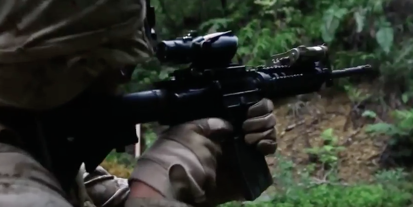 Screen Shot 2017 04 25 at 11.10.57 PM - Watch U.S. Marines Conduct A Jungle Patrol