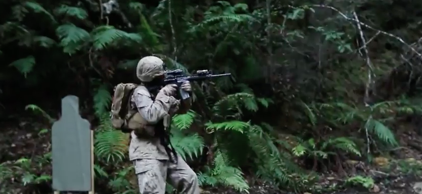 Screen Shot 2017 04 25 at 11.11.02 PM - Watch U.S. Marines Conduct A Jungle Patrol