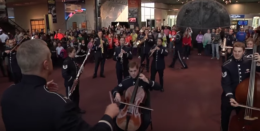 Screen Shot 2017 04 26 at 3.48.14 PM - Watch The U.S. Air Force Band Do A Surprise Performance At The Smithsonian