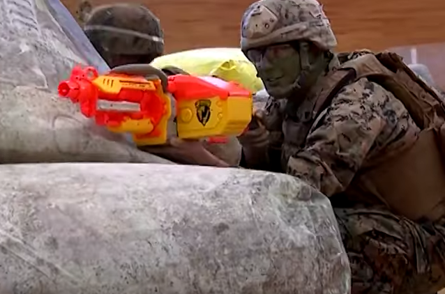 Watch U.S. Marines Take On Little Kids In Epic Nerf Gun Battle Featured