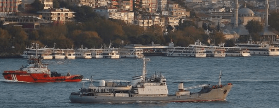 Russian Navy Intelligence Ship Sinks In Black Sea After Collision Featured