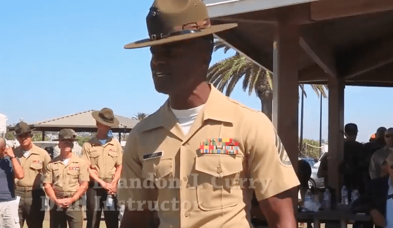 watch these former marine drill instructors hold a cadence