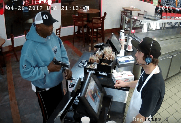 Screen Shot 2017 05 01 at 4.06.53 PM - Watch This Criminal Jam His Gun While Robbing Jimmy Johns