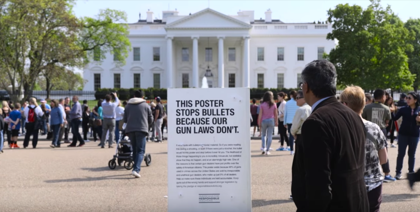 Screen Shot 2017 05 03 at 12.10.23 PM - Gabby Giffords' Gun Control Group Launches New Campaign With Bulletproof Posters