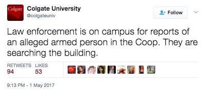 Screen Shot 2017 05 04 at 11.27.46 AM - Colgate University Goes On Lockdown Over Hot Glue Gun