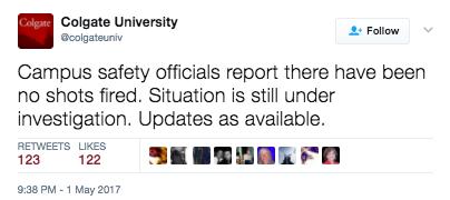 Screen Shot 2017 05 04 at 11.28.34 AM - Colgate University Goes On Lockdown Over Hot Glue Gun