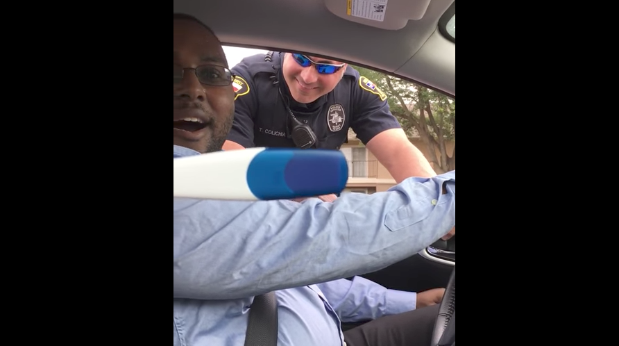 Screen Shot 2017 05 09 at 2.59.05 PM - (VIDEO) Police Pull Over Army Veteran For Surprise Pregnancy Announcement