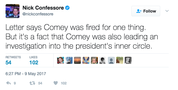 Screen Shot 2017 05 09 at 6.33.22 PM 1 - President Trump Fires FBI Director James Comey