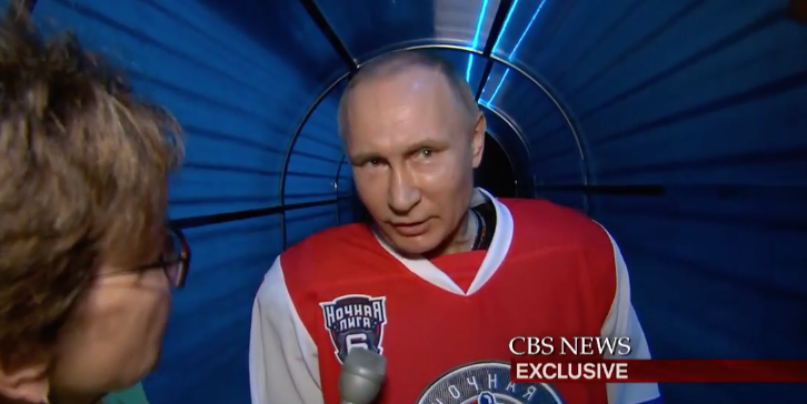Screen Shot 2017 05 11 at 2.08.33 PM - (VIDEO) Putin To CBS Reporter: You Ask Funny Questions - Come Play Hockey With Me