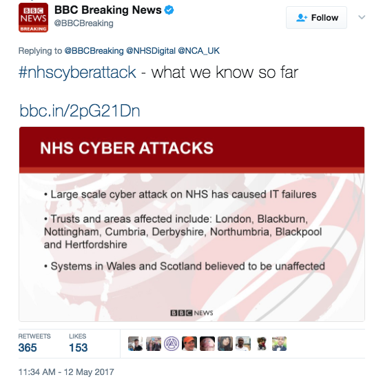 Screen Shot 2017 05 12 at 12.00.27 PM - Major Cyber Attack Cripples Hospitals Across England - Hackers Demanding Ransom