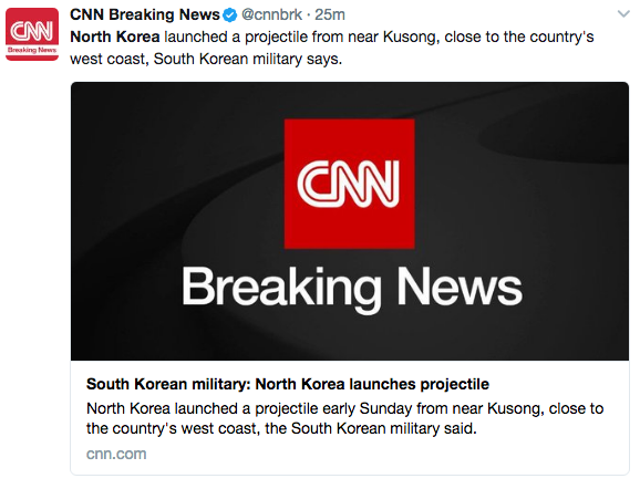 Screen Shot 2017 05 13 at 6.14.48 PM - North Korea Launched A Projectile Believed To Be A Ballistic Missile
