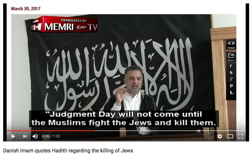 (VIDEO) Danish Imam Calls For Followers to 'Kill' & 'Uproot' Jews Featured