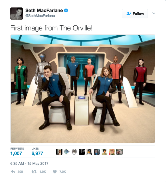Screen Shot 2017 05 16 at 11.57.47 AM - Trailer: Seth McFarlane's 'The Orville' Is A Star Trek Spoof
