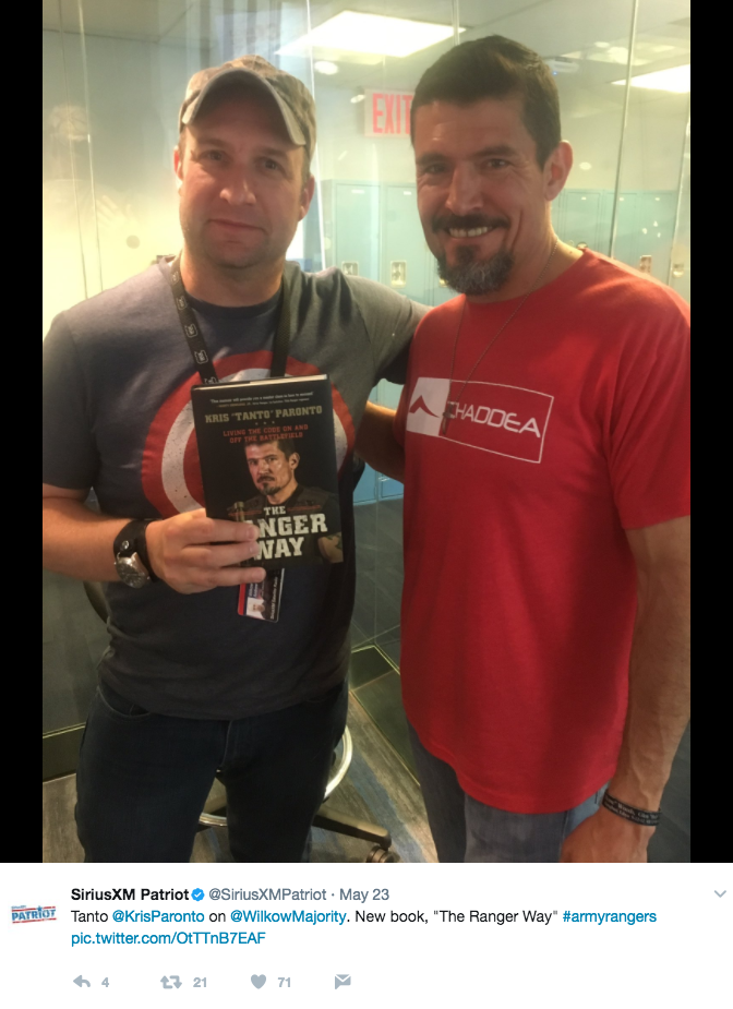 Screen Shot 2017 05 26 at 10.46.23 AM - Benghazi Hero Kris 'Tanto' Paronto Hosts Raucous Book Launch Party In NYC For 'The Ranger Way'