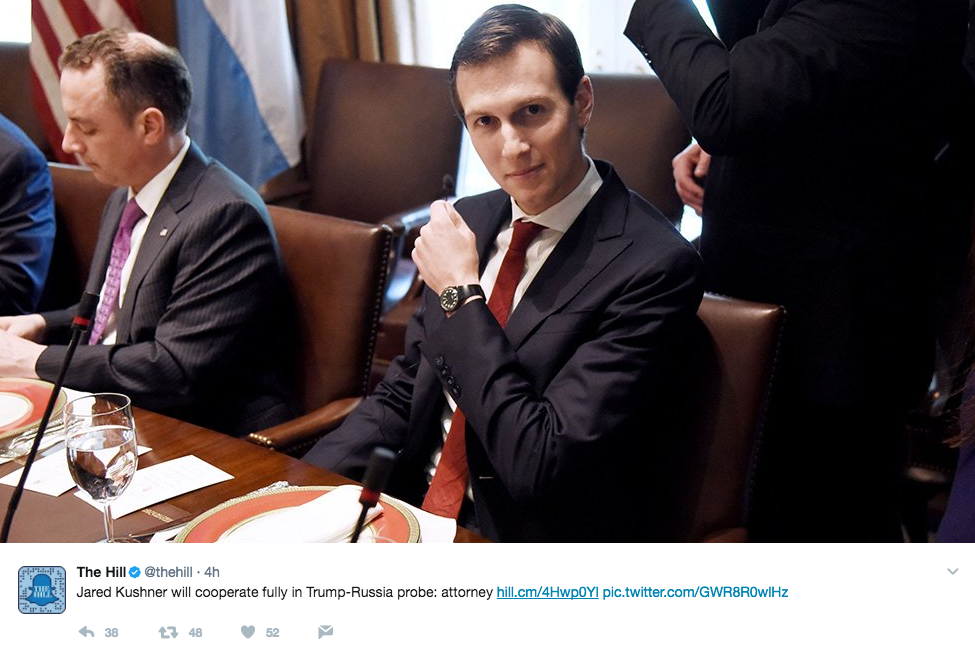 Screen Shot 2017 05 26 at 11.46.00 AM - Trump's Son-In-Law, Jared Kushner, Is Now Under Scrutiny In FBI Russia Investigation