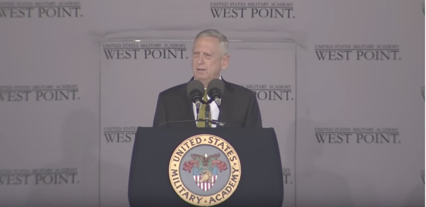 Watch James Mattis' West Point Graduation Speech: 'We Americans Are Not Made Of Cotton Candy' Featured
