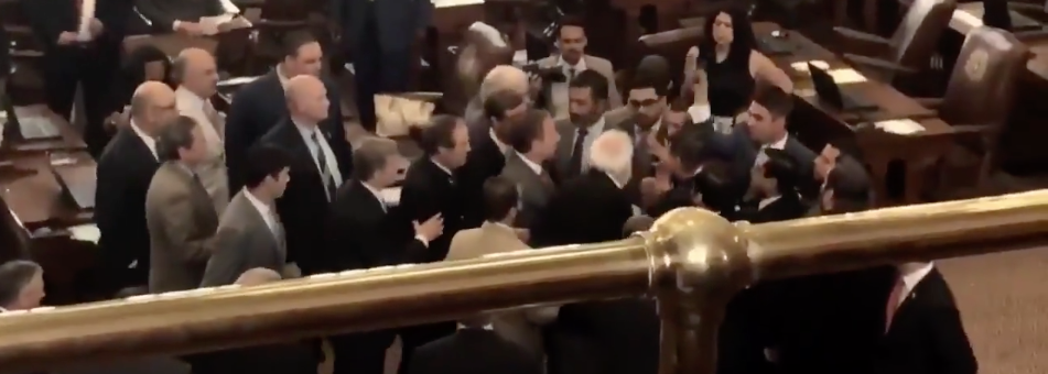 Screen Shot 2017 05 30 at 4.25.54 PM - Texas Politician Calls ICE On Illegal Immigrant Protestors; House Democrat Threatens To Kill Him In Scuffle