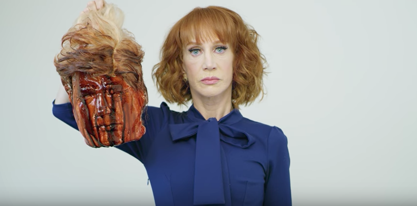 (VIDEO) Kathy Griffin Decapitates Trump, ISIS-Style, With Fresh-Bloodied Fake Head In New Video Featured
