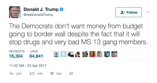 Screen Shot 2017 06 01 at 10.23.08 AM - Trump Deporting So Many MS-13 Gang Members That El Salvador's Government Is Holding Special Meetings