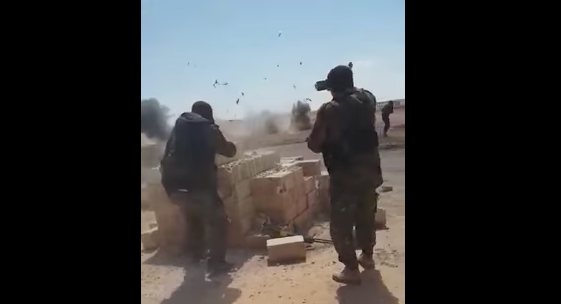 Screen Shot 2017 06 01 at 10.31.25 AM - (VIDEO) ISIL Fail: Suicide Bombers Try To Fake Their Own Surrender, Blow Themselves Up