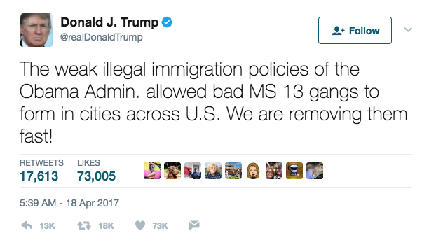 Screen Shot 2017 06 01 at 9.53.54 AM - Trump Deporting So Many MS-13 Gang Members That El Salvador's Government Is Holding Special Meetings