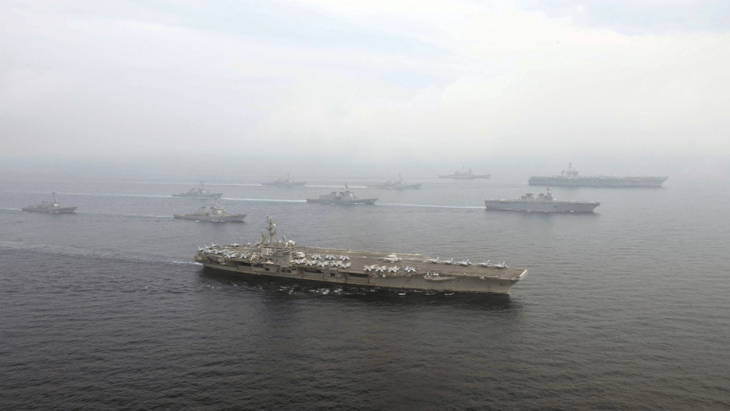 Vinson And Reagan Strike Groups Gather In Force Near North Korea Featured