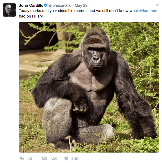 Screen Shot 2017 06 02 at 11.21.39 AM - Here Is How The Internet Remembered Harambe The Gorilla One Year After His Death
