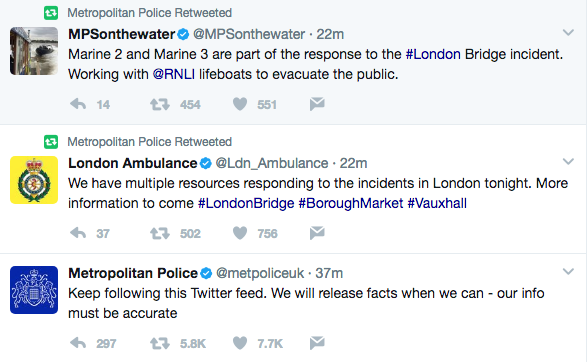 Screen Shot 2017 06 03 at 7.42.05 PM - Terror Attacks In London: 'This Is For Allah;' 6+ Dead, 30+ Injured As Van Mows Down People On London Bridge; Machete Stabbing Spree In Nearby Neighborhood