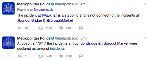 Screen Shot 2017 06 03 at 7.55.36 PM - Terror Attacks In London: 'This Is For Allah;' 6+ Dead, 30+ Injured As Van Mows Down People On London Bridge; Machete Stabbing Spree In Nearby Neighborhood