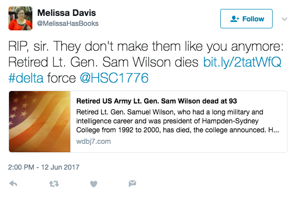 Screen Shot 2017 06 12 at 3.57.30 PM - Legendary Retired Army Lt. Gen. Samuel Wilson, Who Helped Create Delta Force, Dies At Age 93