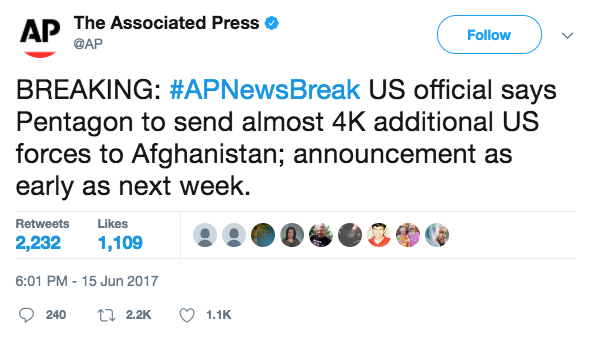 Screen Shot 2017 06 16 at 10.33.17 AM - Trump Admin Official: US will send 4,000 more troops to Afghanistan