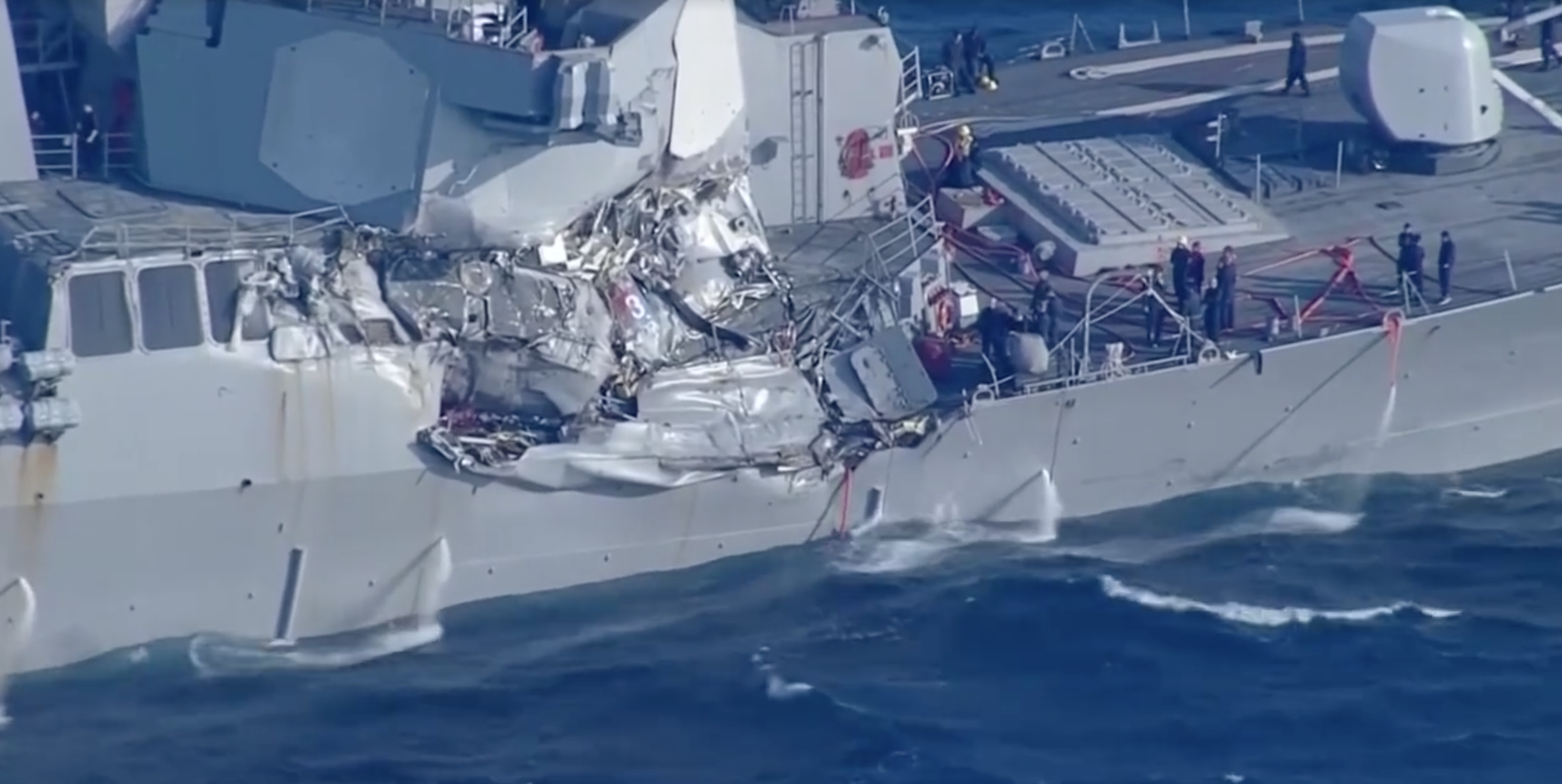 Officials: Container ship that hit the USS Fitzgerald was on autopilot when the deadly collision took place Featured