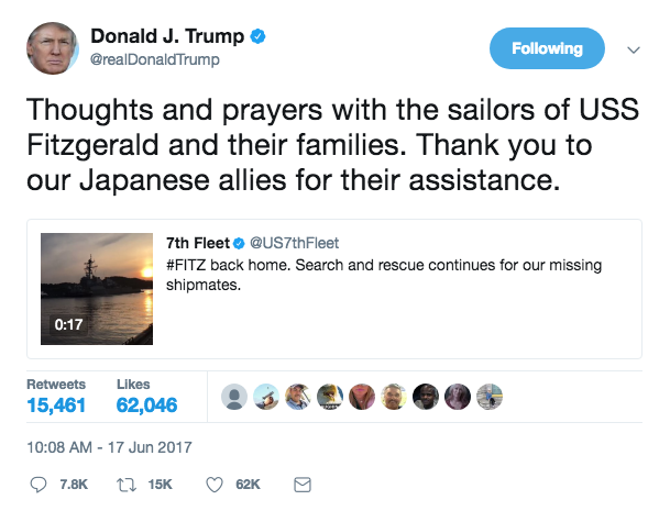 Screen Shot 2017 06 17 at 11.54.55 PM - The seven missing sailors from the USS Fitzgerald collision found dead inside flooded areas of the ship