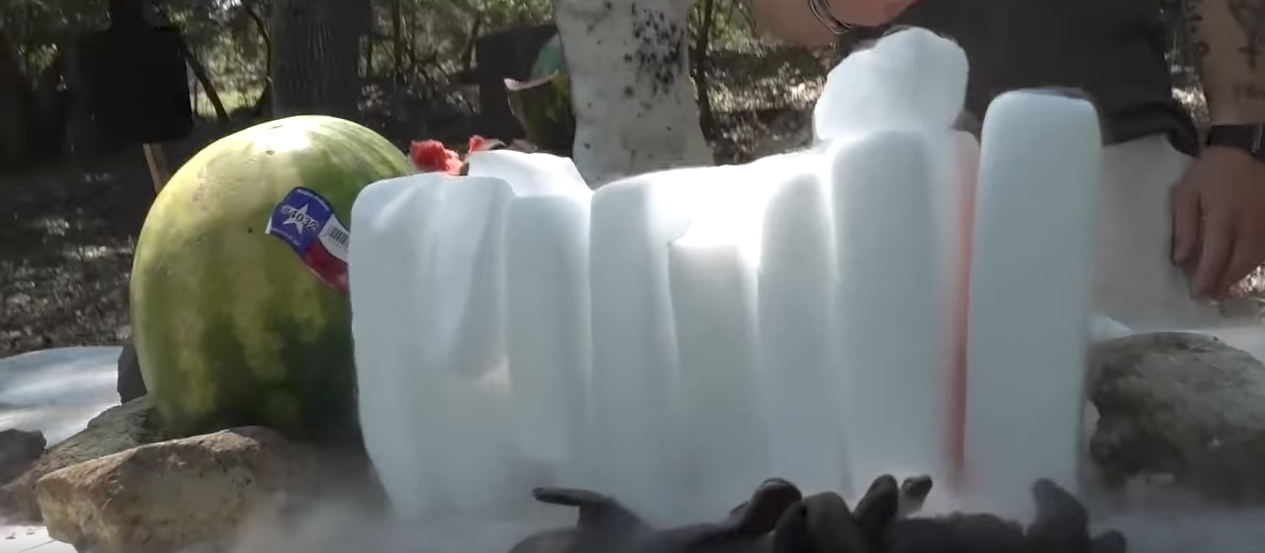 (VIDEO) Can a 50 cal BMG penetrate a block of dry ice? Featured