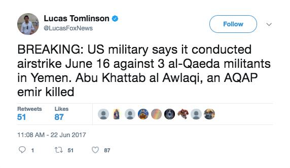 Screen Shot 2017 06 22 at 2.58.46 PM - Yemen al Qaeda leader killed in US airstrike