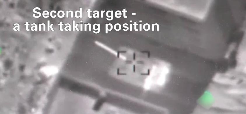 Watch an Israeli airstrike take out a Syrian machine gun and 2 tanks Featured