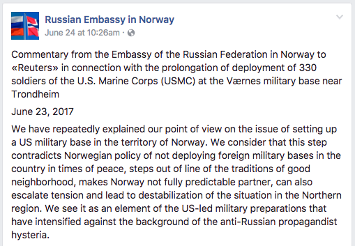 Screen Shot 2017 06 26 at 12.40.45 PM - Russia warns that US Marines staying longer in Norway will raise tensions