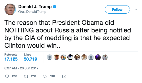 Screen Shot 2017 06 26 at 3.10.53 PM - President Trump: 'Obama did nothing to stop Russia' after Putin meddled in the Presidential election