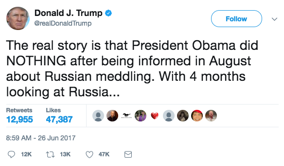 Screen Shot 2017 06 26 at 3.11.48 PM - President Trump: 'Obama did nothing to stop Russia' after Putin meddled in the Presidential election