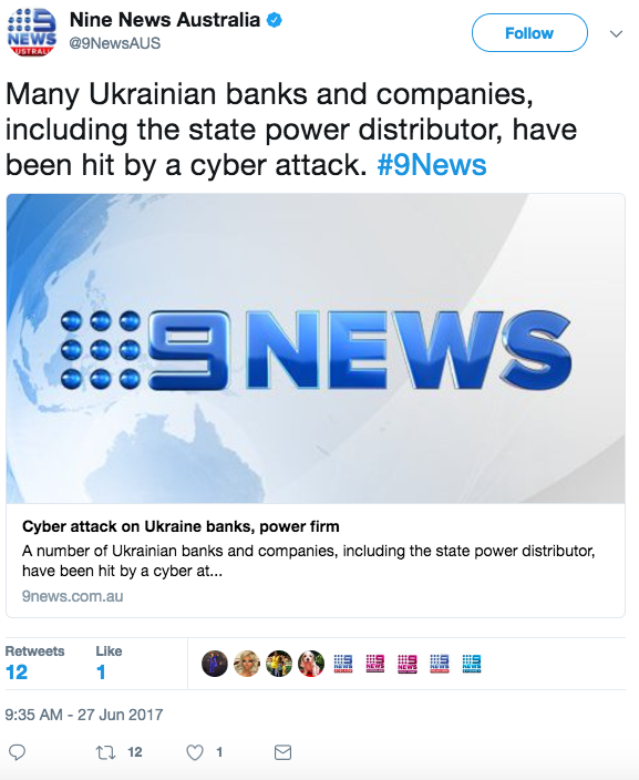 Screen Shot 2017 06 27 at 1.22.14 PM - International cyberattack stemming from the Ukraine hits huge European and US companies