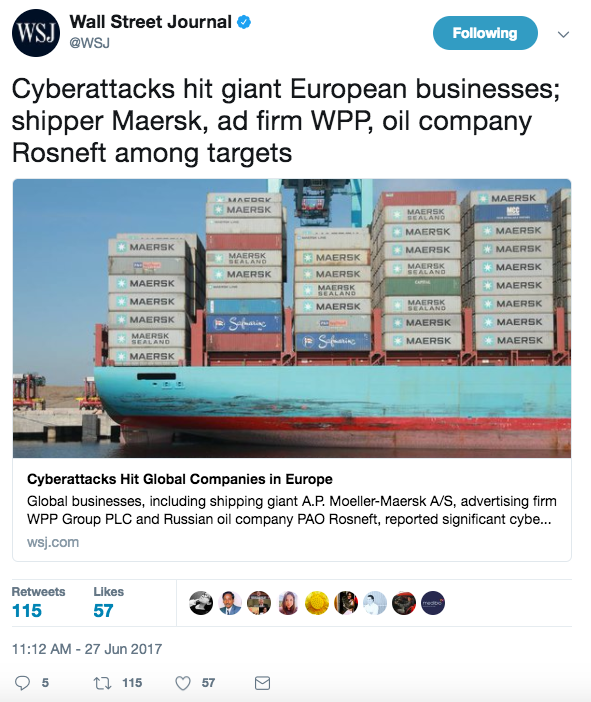 Screen Shot 2017 06 27 at 1.45.54 PM - International cyberattack stemming from the Ukraine hits huge European and US companies