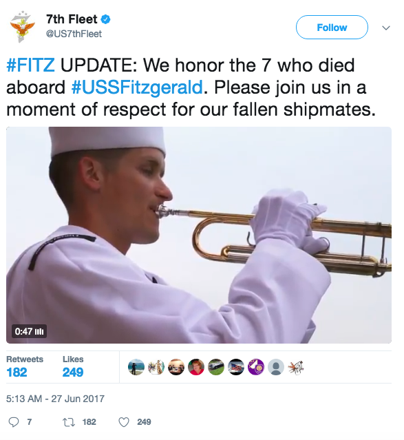 Screen Shot 2017 06 27 at 9.52.41 AM - News agencies push unverified report that blames USS Fitzgerald for deadly collision