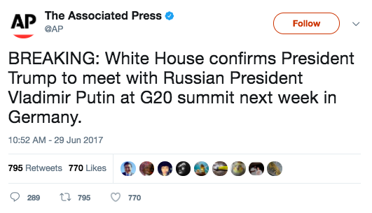 Screen Shot 2017 06 29 at 3.37.37 PM - President Trump will meet Russian President Vladimir Putin at G-20 summit next week
