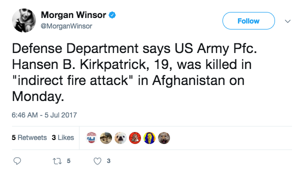 Screen Shot 2017 07 05 at 10.42.48 AM - US Army soldier killed in Afghanistan on July 3 identified