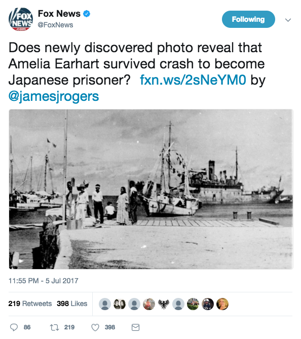 Screen Shot 2017 07 07 at 1.39.12 PM - New photo shows Amelia Earhart might have survived crash & had been captured by Japanese military