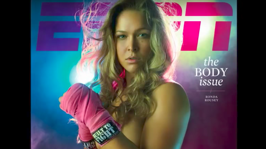 Screen Shot 2017 07 09 at 5.25.04 PM - Remember when MMA fighter Ronda Rousey got naked for Sports Illustrated and ESPN?